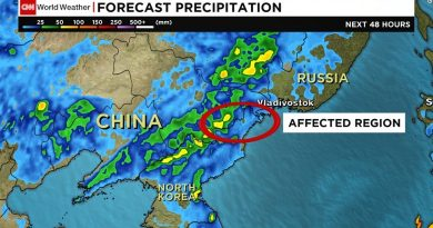 Северная Корея объявляет о катастрофе связанной с сильнейшим наводнением