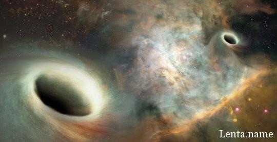 Астрономы обнаружили орбитальное движение в паре сверхмассивных черных дыр